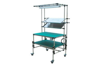 Height Adjustable Pipe Workbench With Caster (Heavy Duty mobile Industrial Workbench)