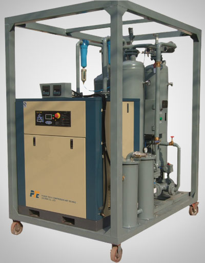 Desiccant compressed air drying machine