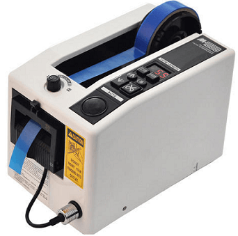 The M 1000 electrical tape dispenser automatically cuts and sends out predefined tape lengths. Perfect for medium to high production of repetitive taping in industrial applications.